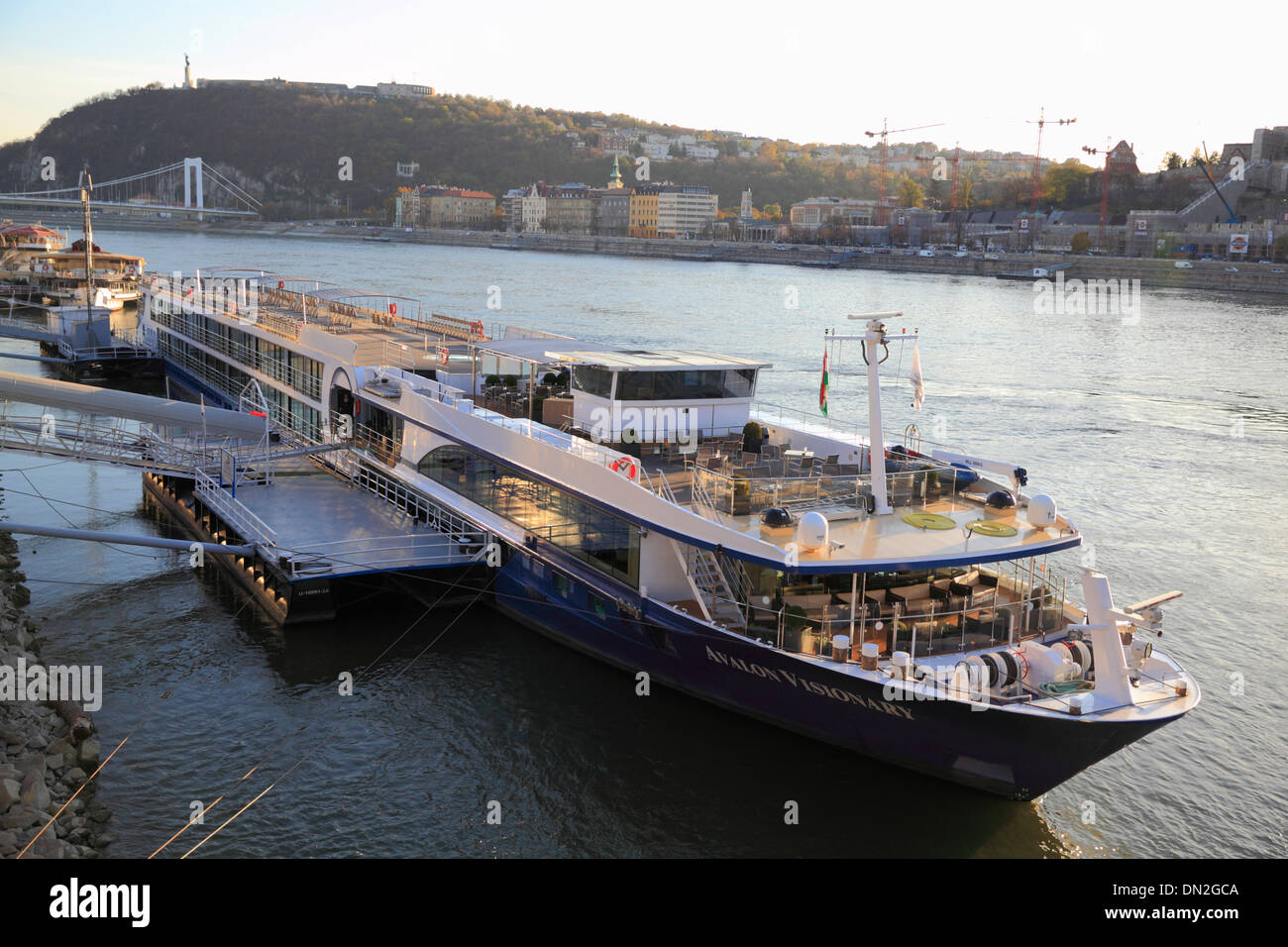 Danube River Cruise Ships a River Cruise Ship Moored on