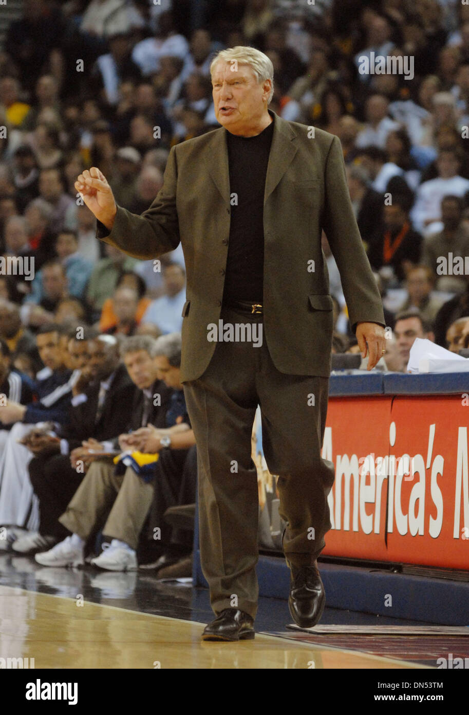 Golden State Warriors Head Coach Don Nelson during their game with