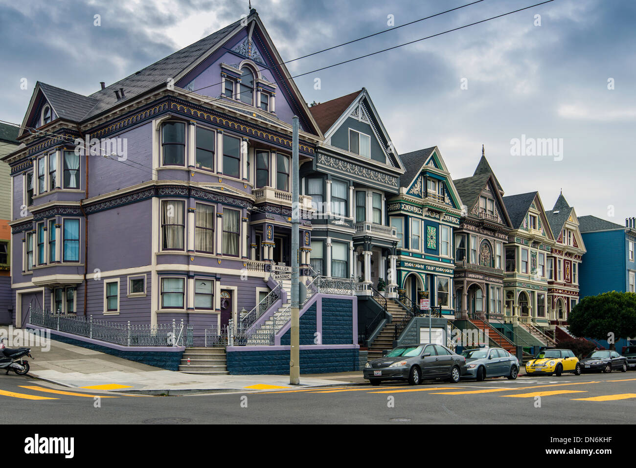 The painted ladies victorian houses haight ashbury for San francisco victorian houses