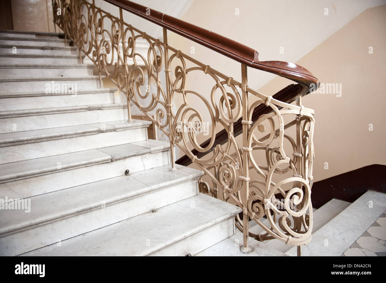 Stock Photo   Vintage Staircase With Marble Stairs