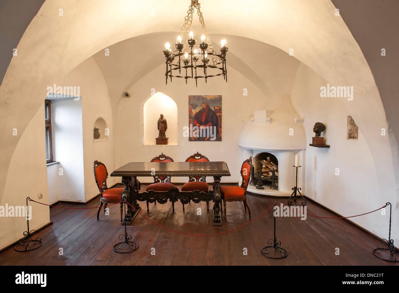 Attractive Interior Of Bran Castle In The Transylvania Region Of Central Romania