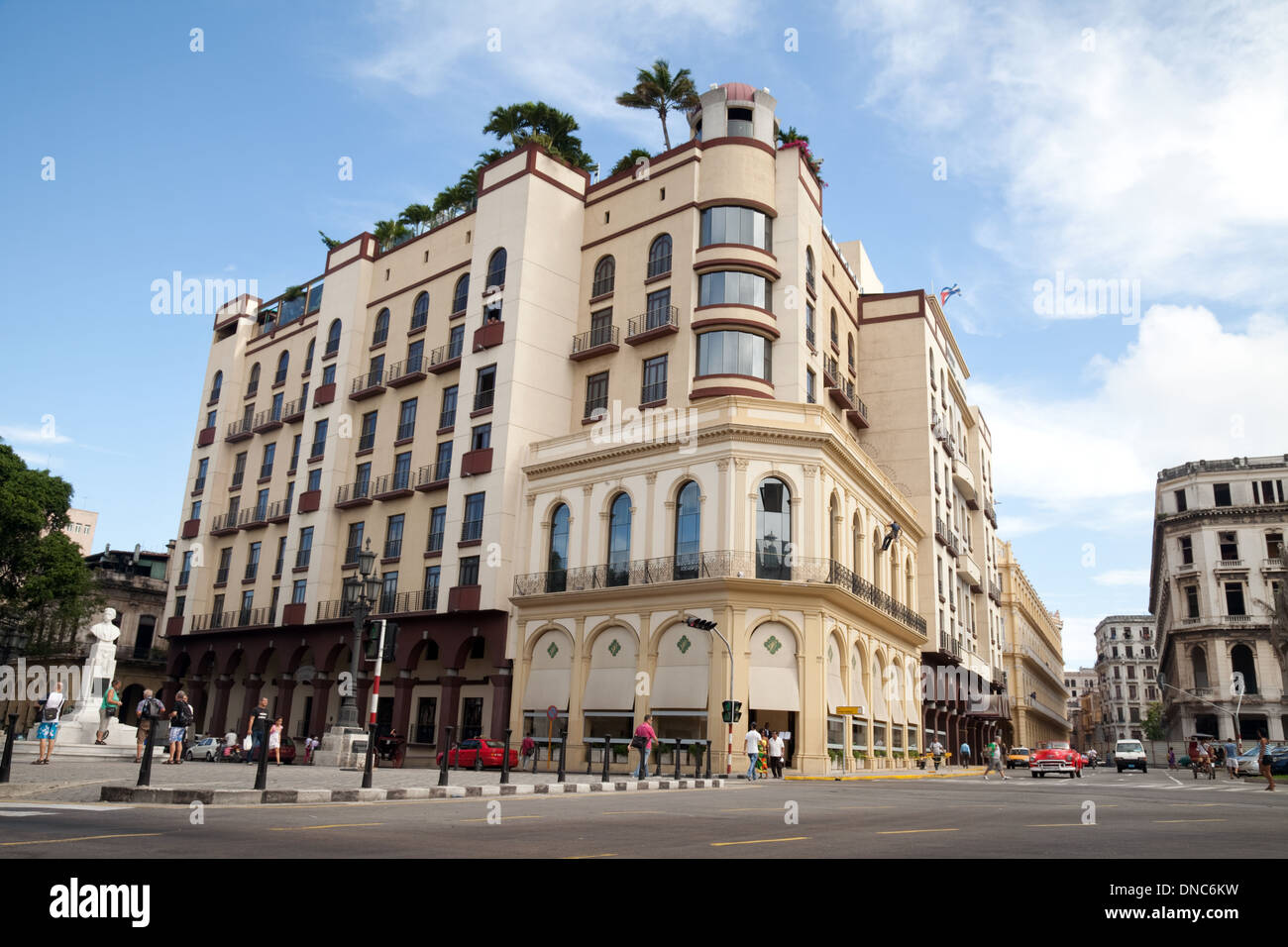 Stock photo the exterior of the luxury iberostar parque central hotel havana cuba caribbean