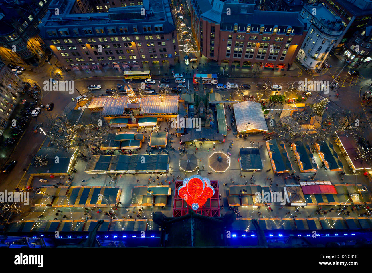 Manchester Christmas markets in Albert Square Stock Photo, Royalty ...