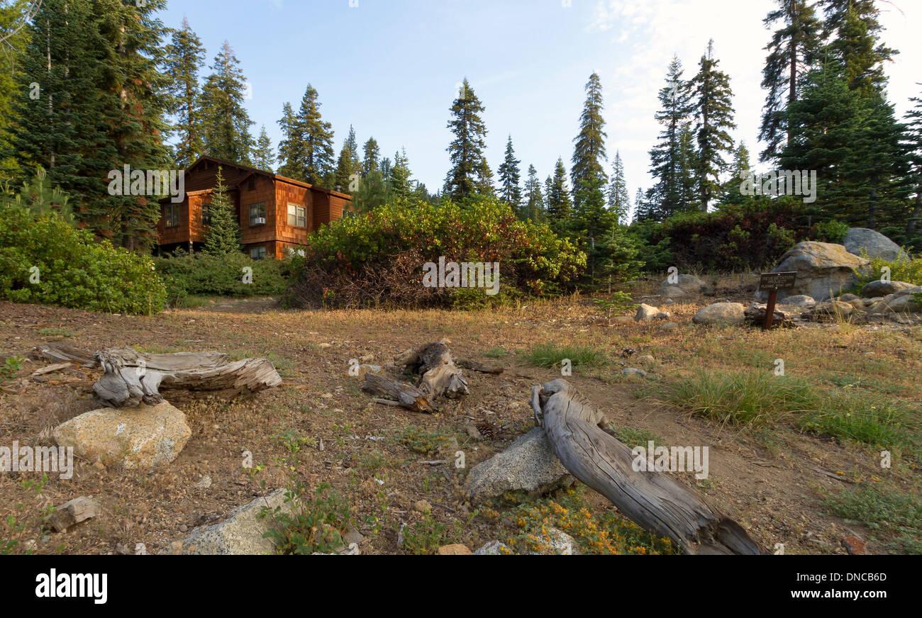 Small cabin in california 39 s sequoia national park stock for Log cabin sequoia national park