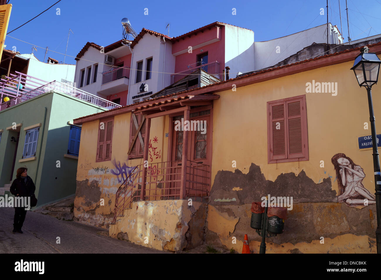 upper town thessaloniki greece stock photo royalty free image 64811479 alamy. Black Bedroom Furniture Sets. Home Design Ideas