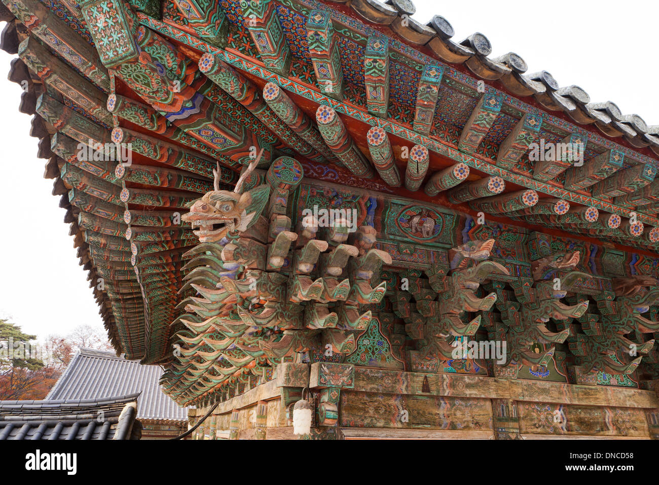 Traditional wood architecture in Hanok style - Gyeongju, South ...