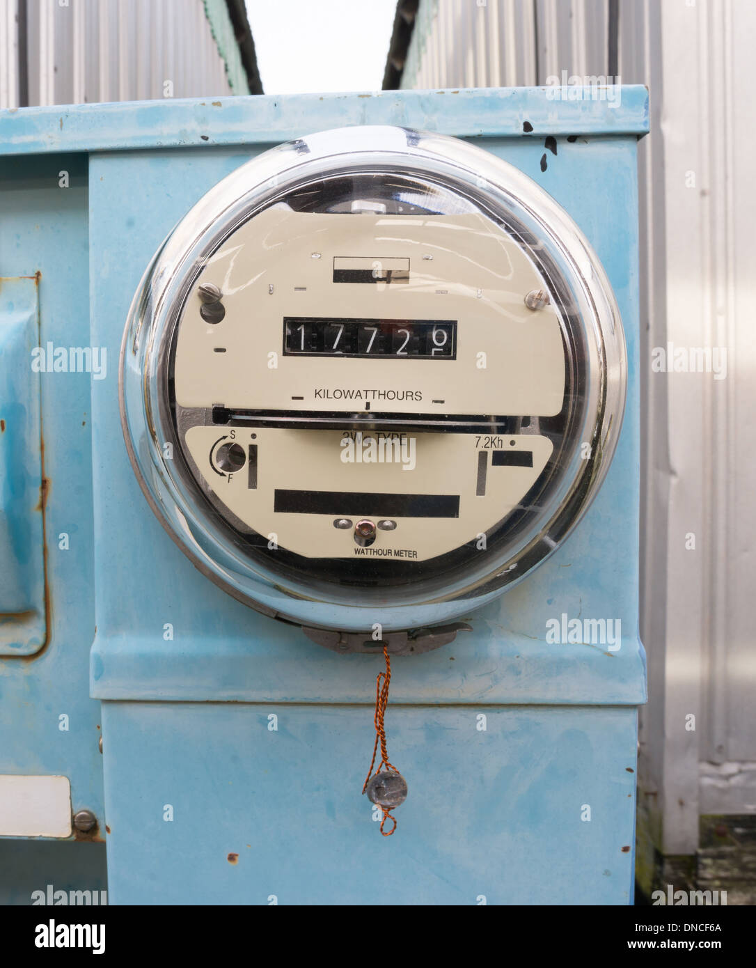 Analog Electric Meter : Utility electric meters outside old analog style stock