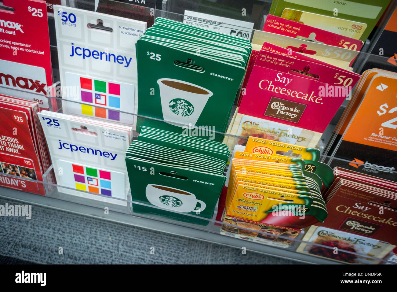 A selection of gift cards in a store in New York Stock Photo ...