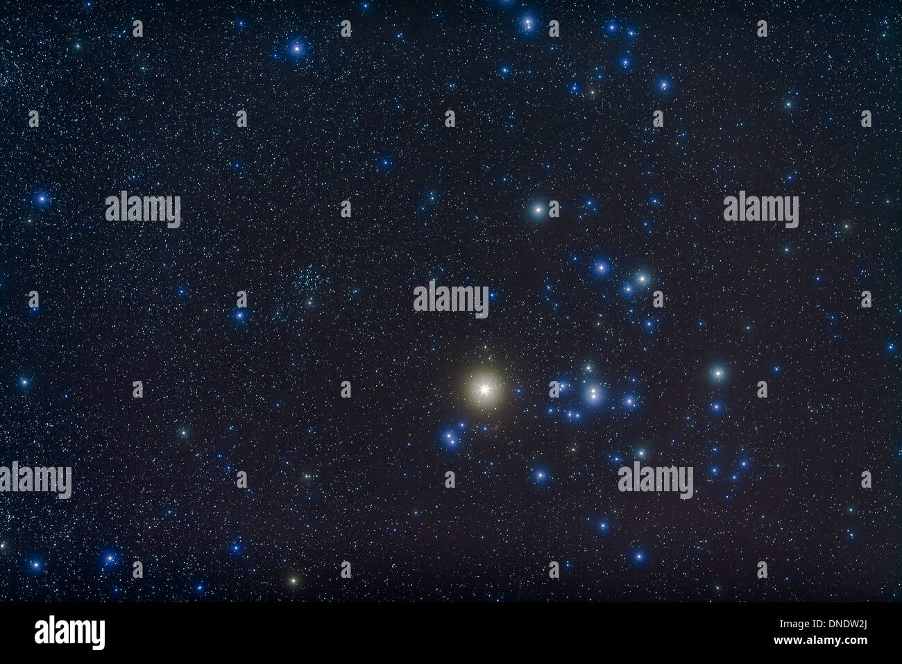The open cluster Hyades and giant star Aldebaran in the ...
