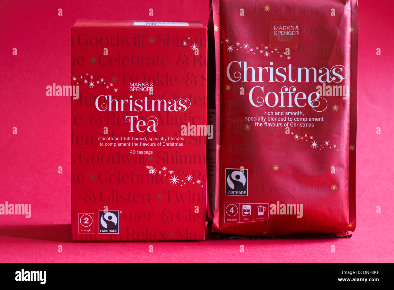 packets of Fairtrade Marks & Spencer Fairtrade Christmas tea and ...