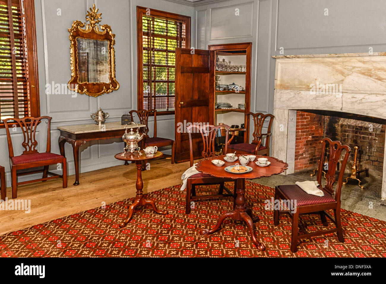 Peyton randolph house interior room and furnishings in colonial stock photo royalty free image - House interior images ...