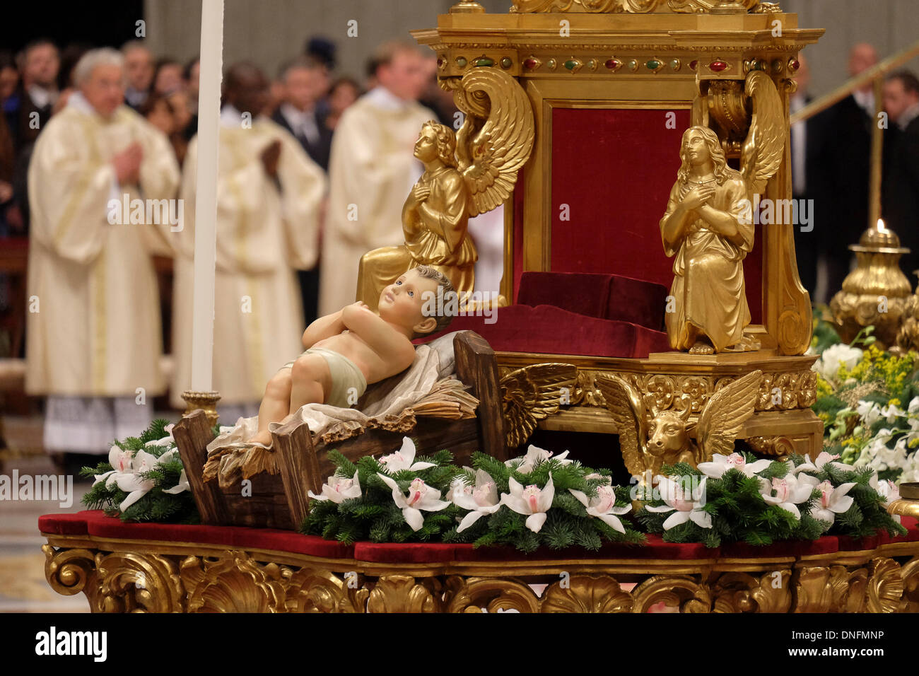 VAtican, Rome, Italy. 24th December 2013. Celebration of the Stock ...