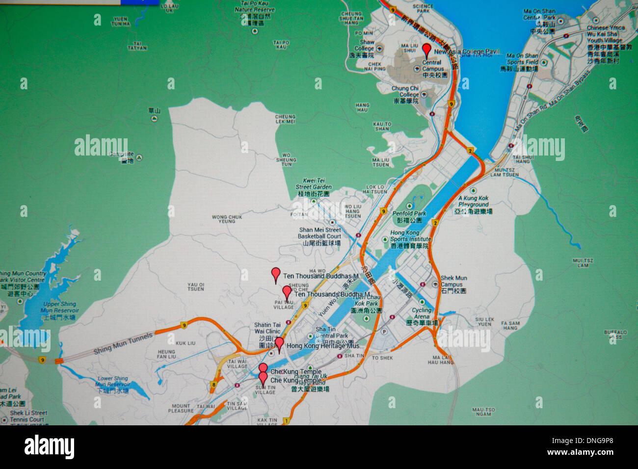 Hong kong china sha tin google map online red tags street computer hong kong china sha tin google map online red tags street computer monitor cantonese chinese characters hnz pinyin gumiabroncs Gallery