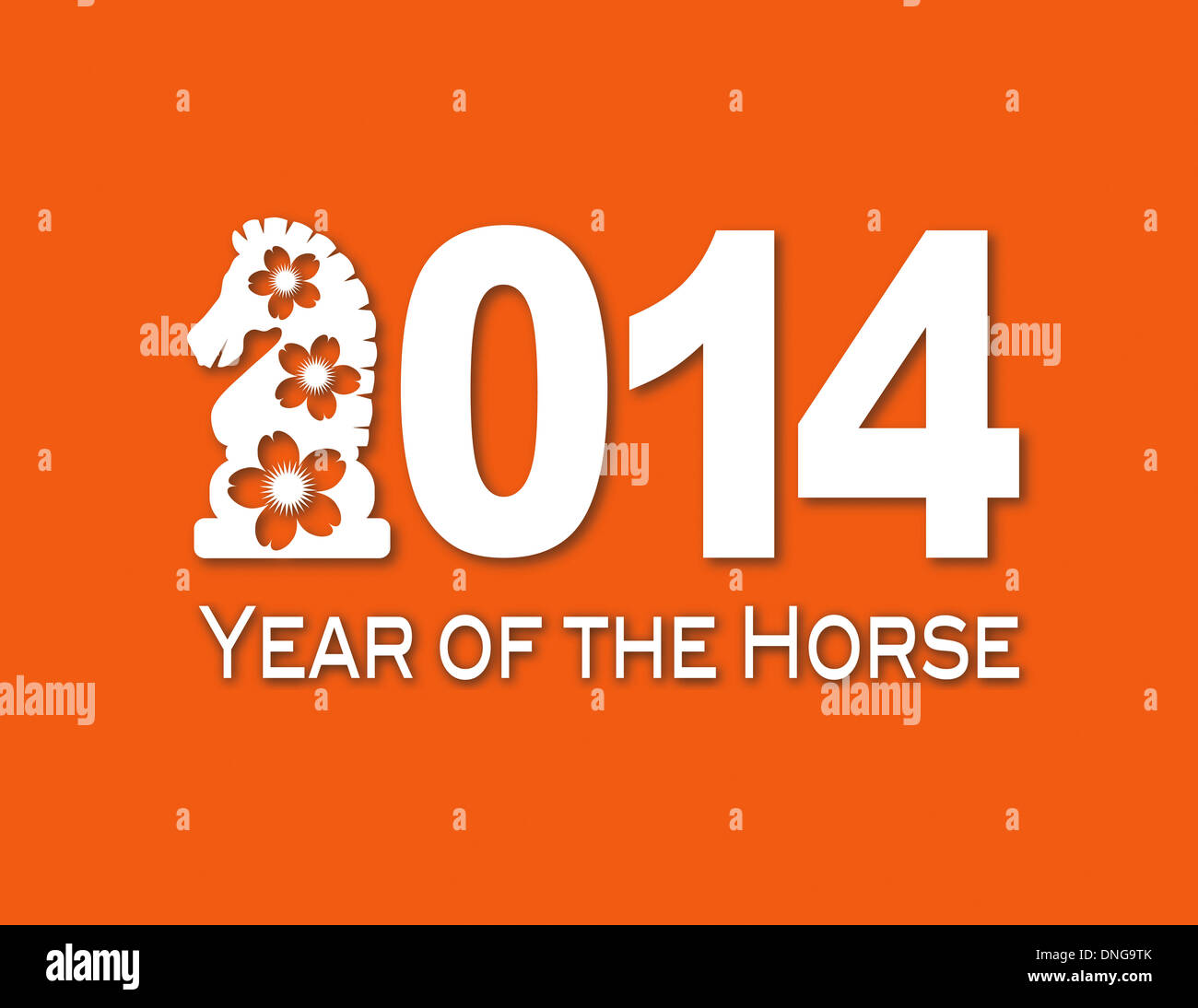 2014 chinese lunar new year of the horse numerals with horse text 2014 chinese lunar new year of the horse numerals with horse text symbol white paper cut out on orange background illustration buycottarizona