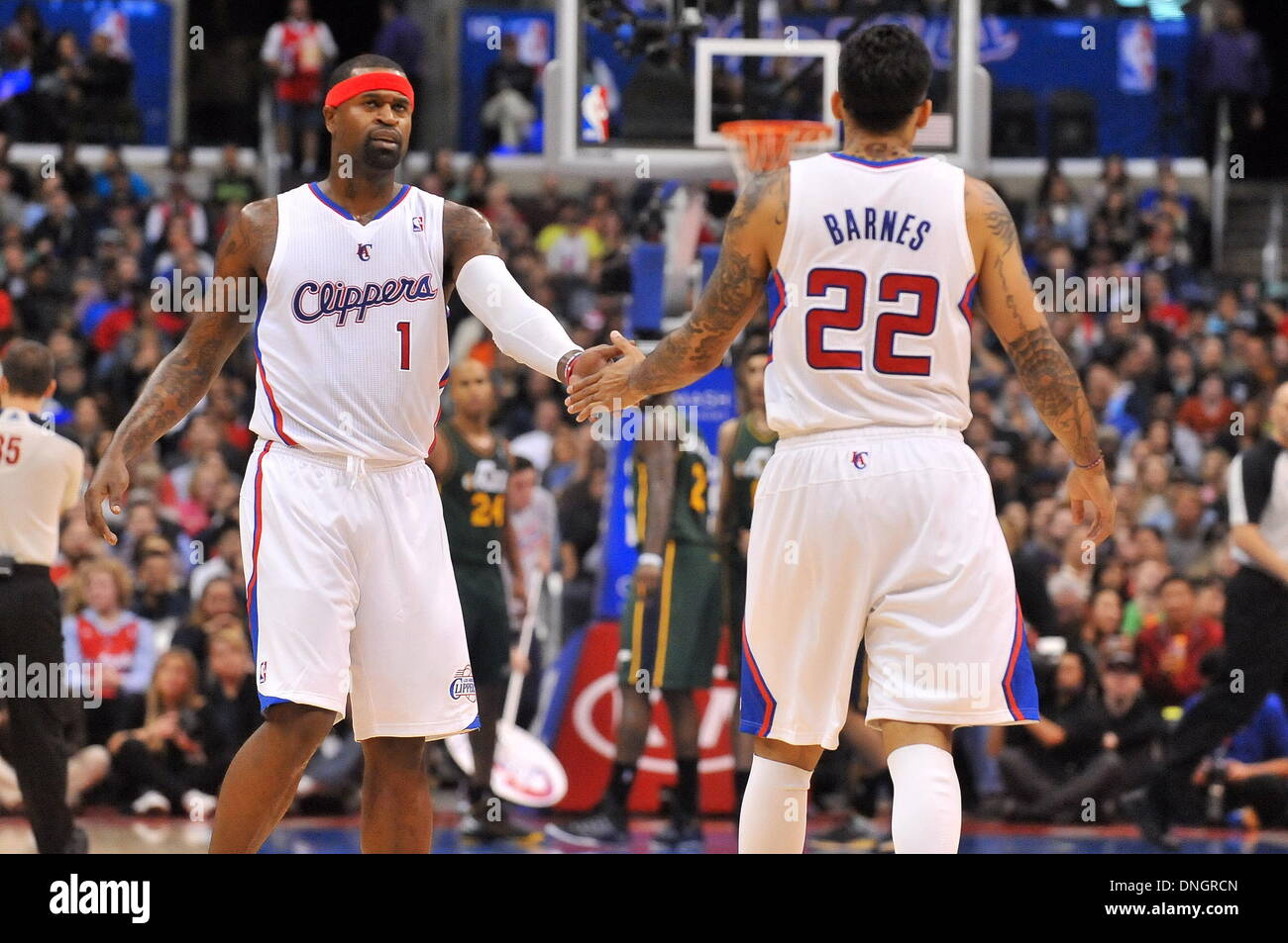 Los Angeles CA USA 28th Dec 2013 Clippers Stephen Jackson 1