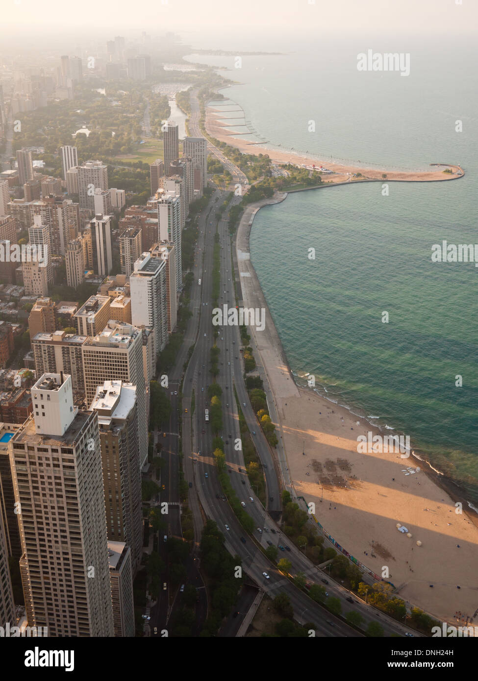 Oak Street Beach Chicago Stock Photos  Oak Street Beach Chicago - Chicago map north avenue beach