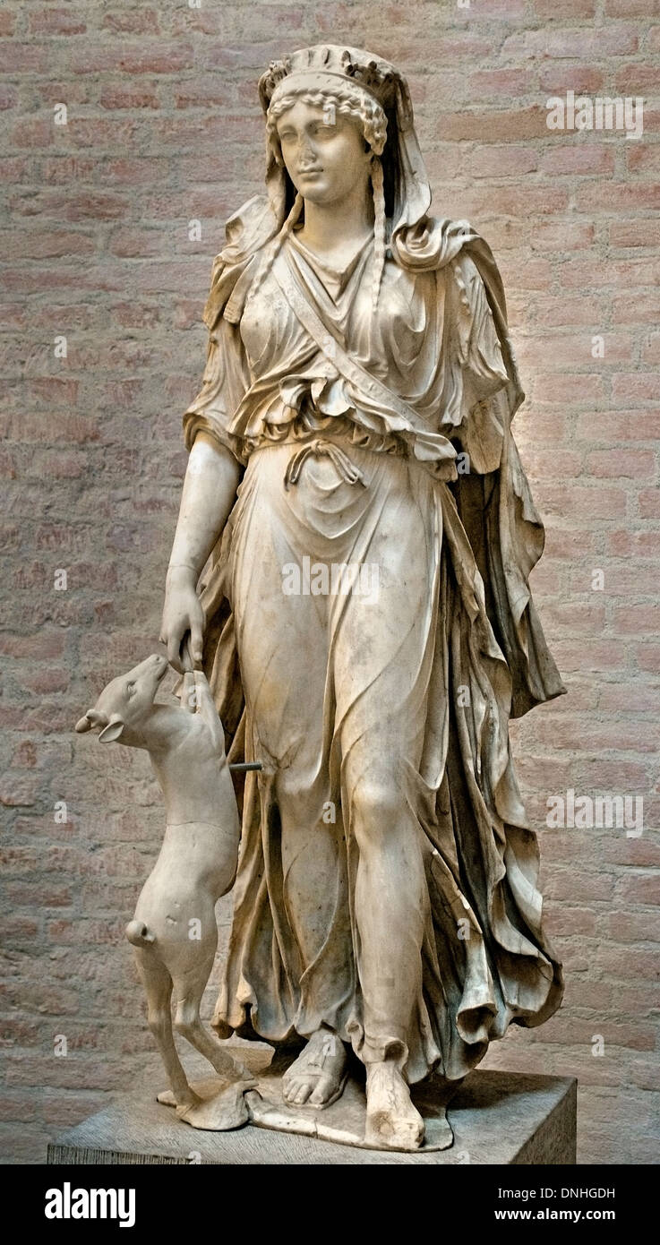 the sculpture of roman goddess diana The name hecate was used as a name for diana in the underworld she was the goddess of the night and of necromancy,  a roman sculpture of triple hecate,.