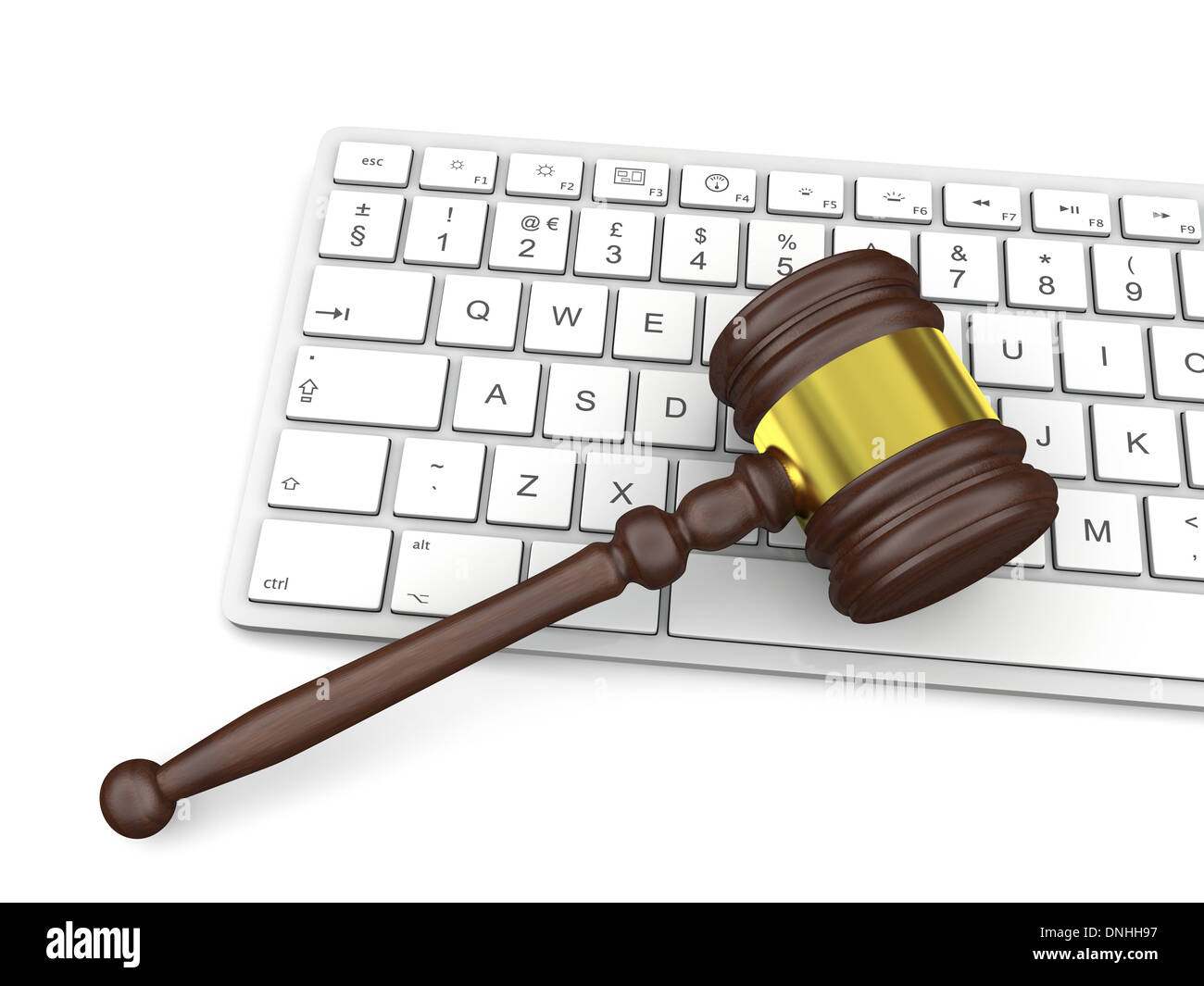 Wooden gavel on computer keyboard symbol of law and justice in wooden gavel on computer keyboard symbol of law and justice in technology biocorpaavc