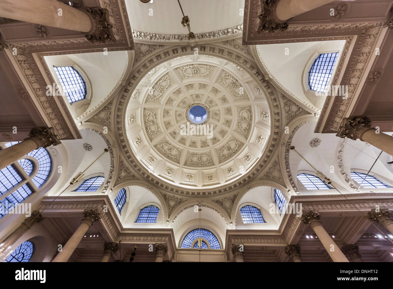 Stock Photo   The Church Of St Stephen Walbrook In The City Of London, With  Dome By Sir Christoper Wren