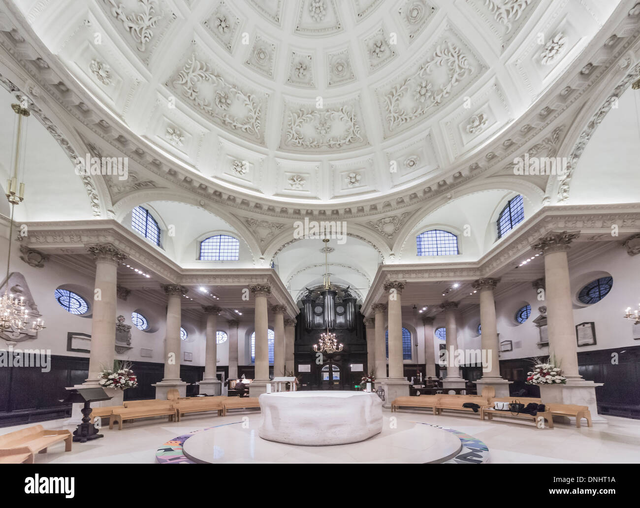 Perfect Stock Photo   The Church Of St Stephen Walbrook In The City Of London, EC4,  With Dome By Sir Christoper Wren And Altar By Henry Moore, Associated With  Chad ... Images