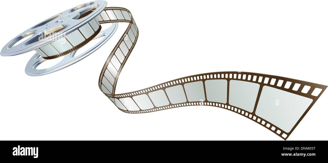 Movie film spooling out of film reel symbol for cinema stock movie film spooling out of film reel symbol for cinema biocorpaavc