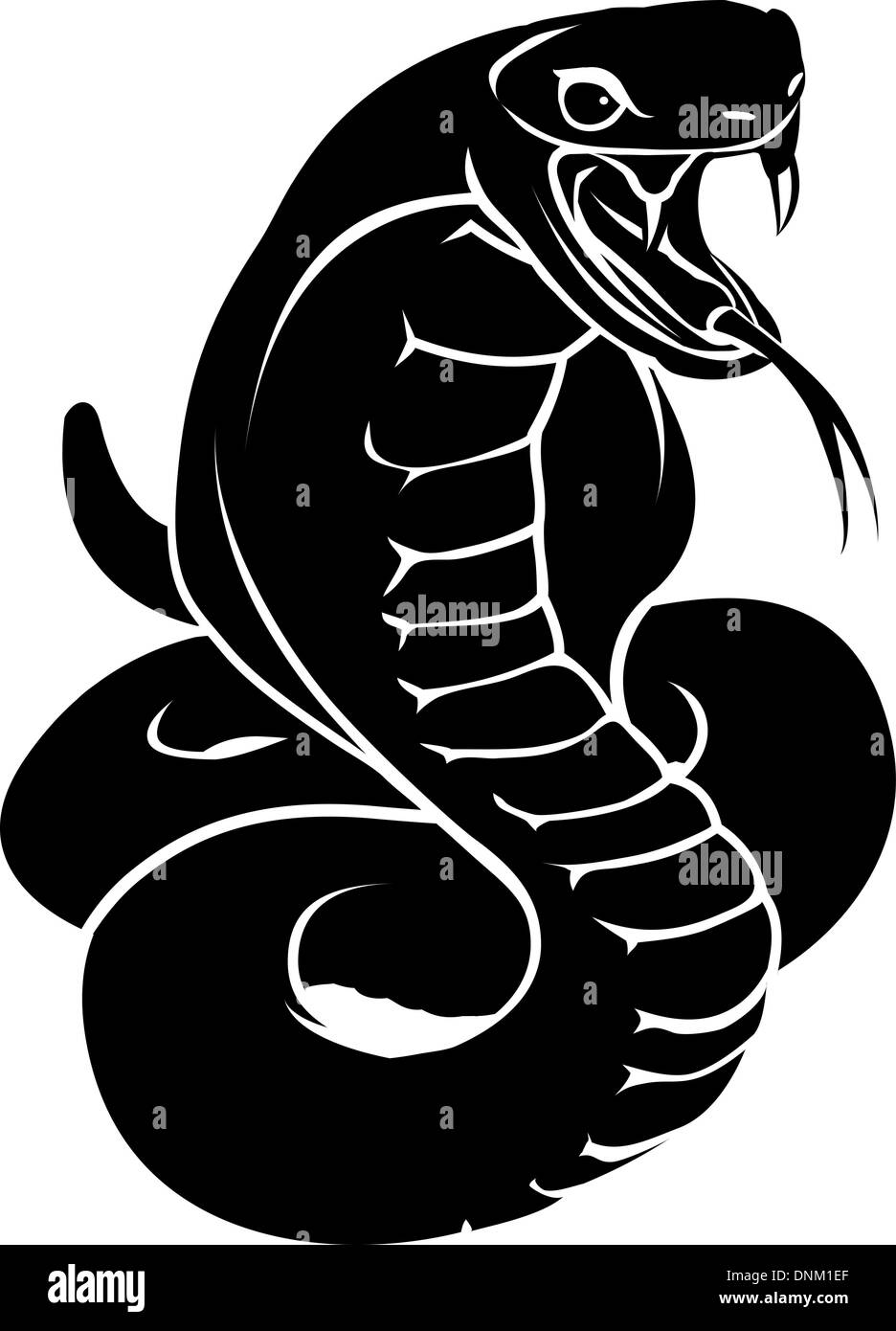 an illustration of a stylised snake or cobra perhaps a snake tattoo stock vector art. Black Bedroom Furniture Sets. Home Design Ideas