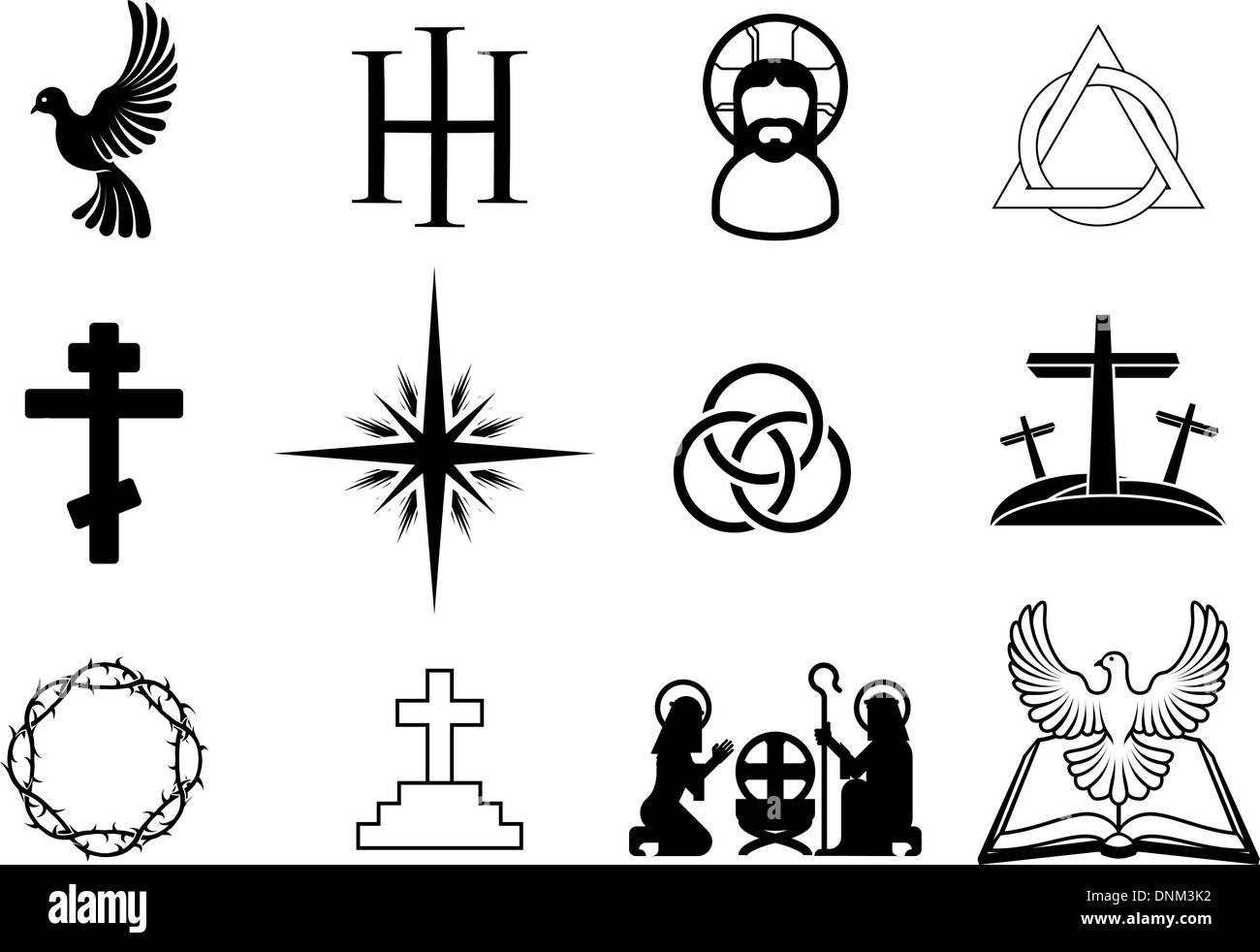Christogram christianity stock photos christogram christianity a set of christian religious signs and symbols stock image biocorpaavc