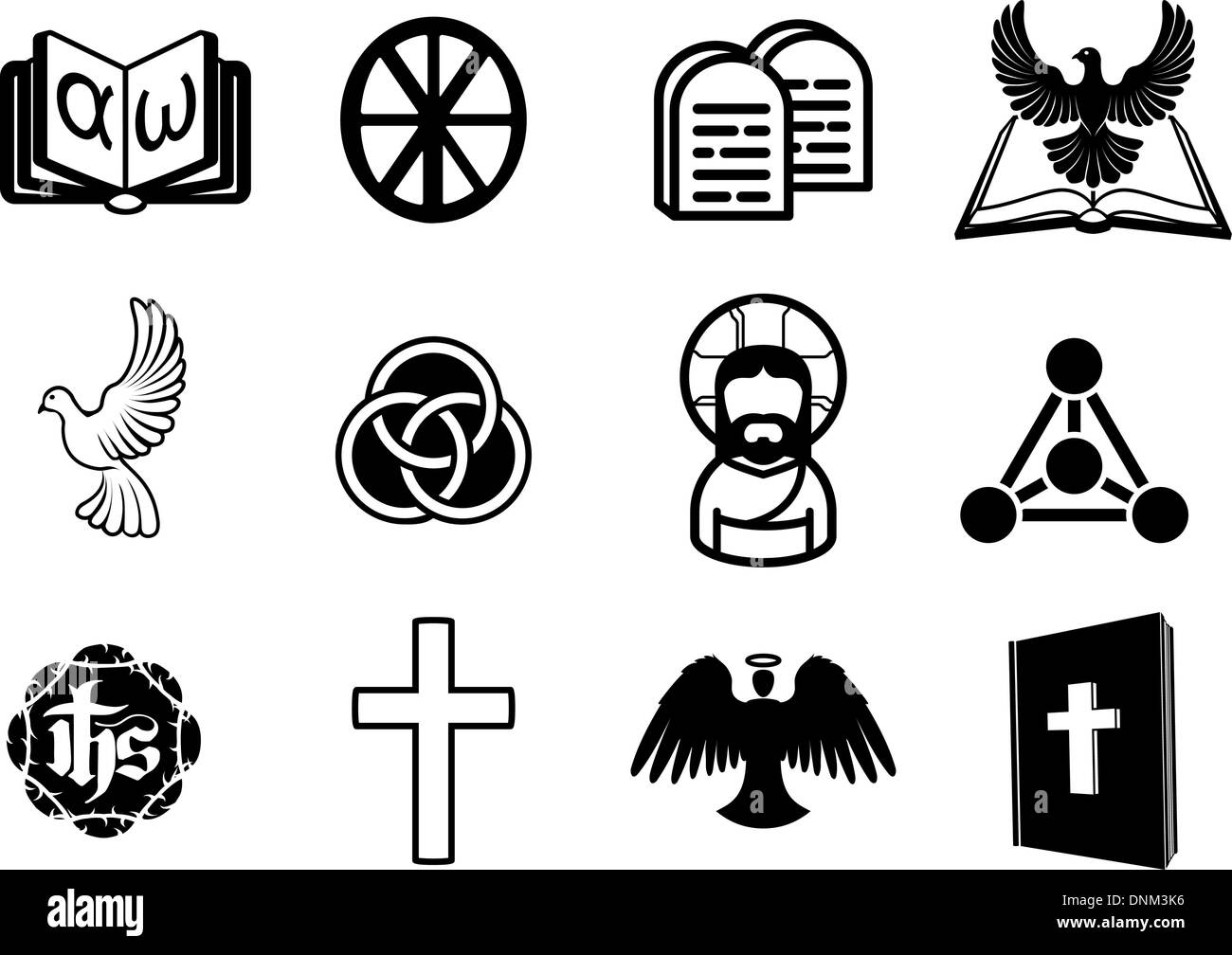 A christian religious icon set with signs and symbols related to christian house permission signs set a christian religious icon set with signs and symbols related to christian themes stock photo biocorpaavc Choice Image