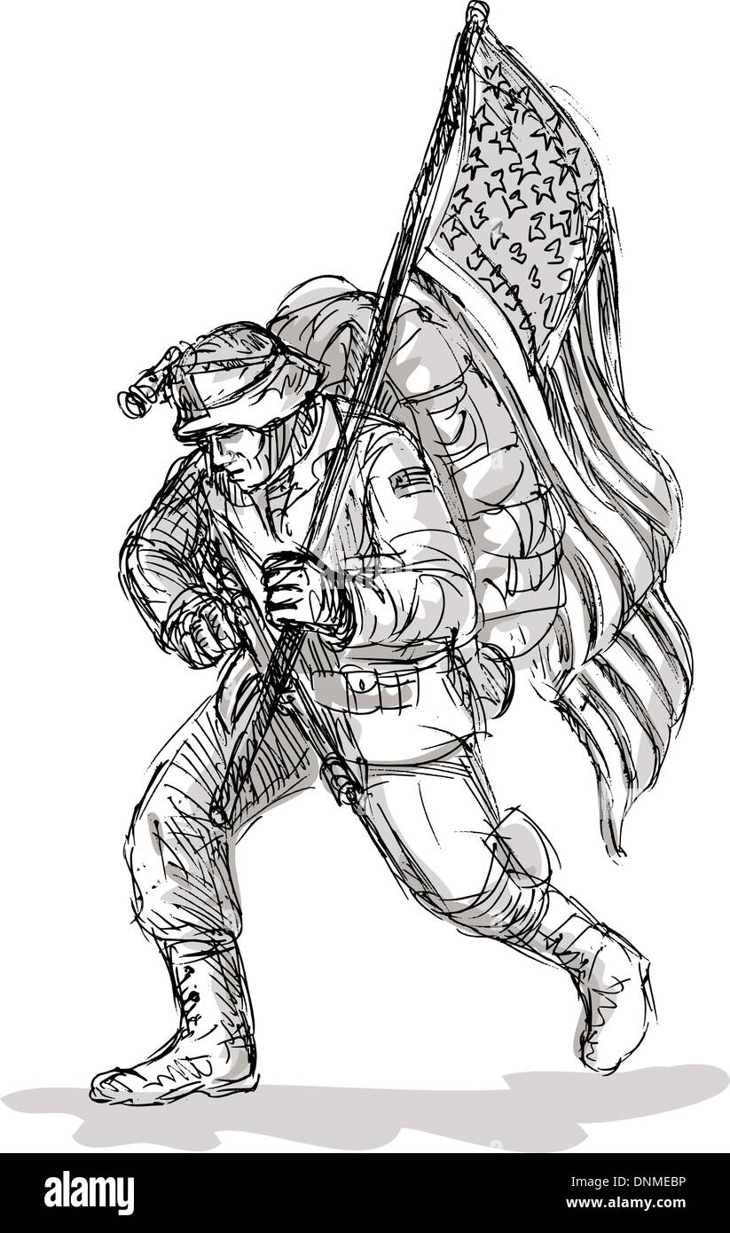 american soldier drawing - photo #33