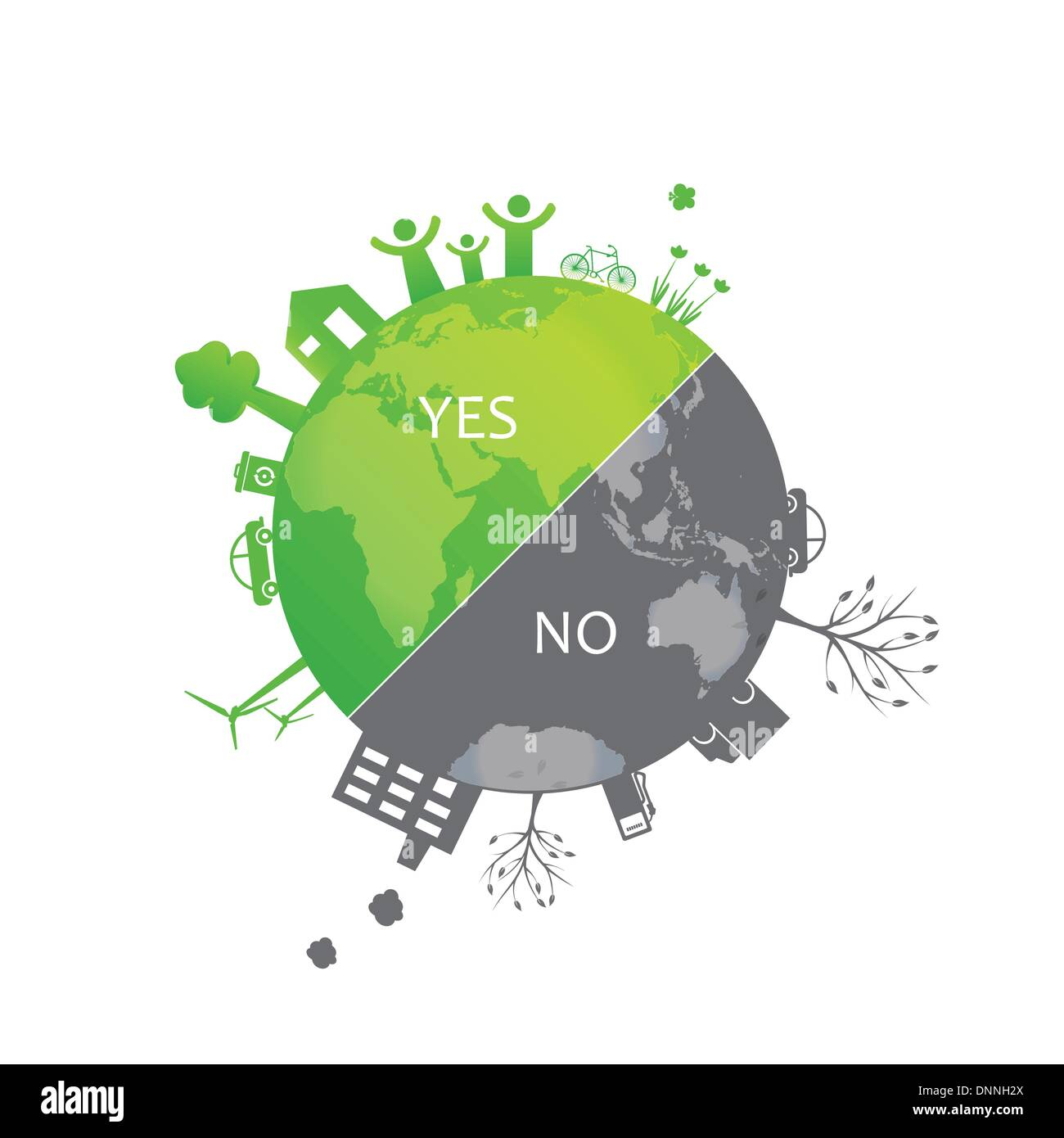 Protect the earth environment symbols on clean or dirty earth protect the earth environment symbols on clean or dirty earth biocorpaavc Choice Image