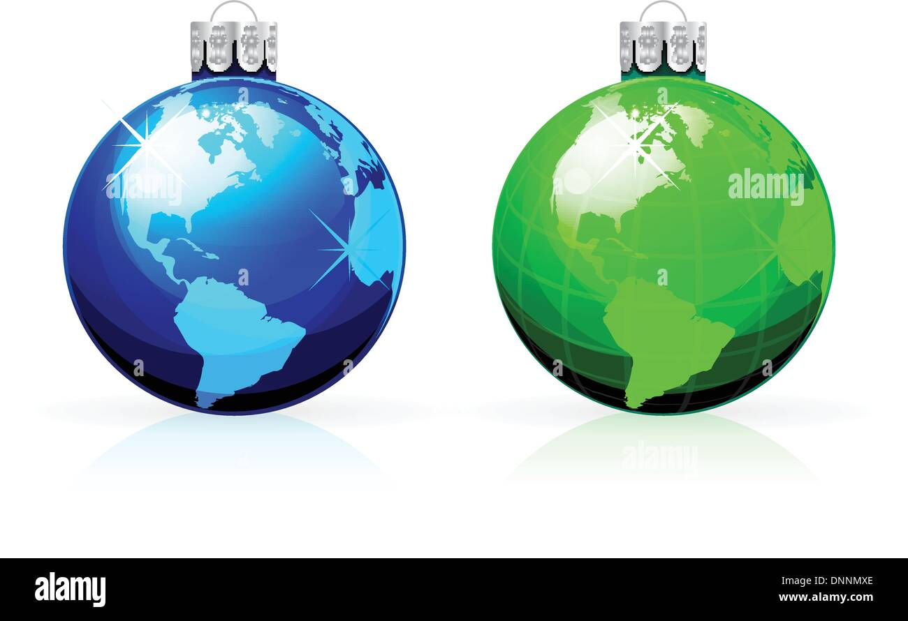 World globe christmas ornaments - Globe Christmas Balls Christmas Baubles With World Map
