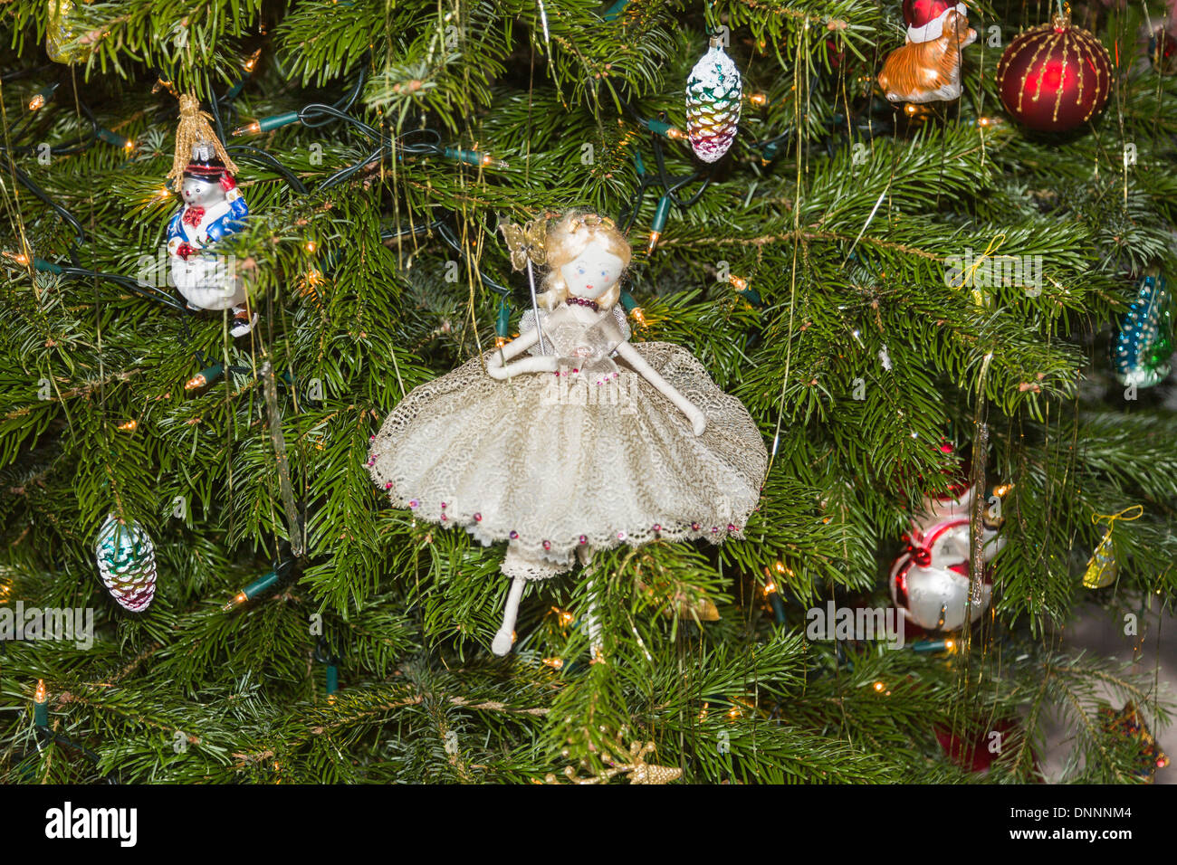 Hand-made Traditional Christmas Tree Fairy Decoration In