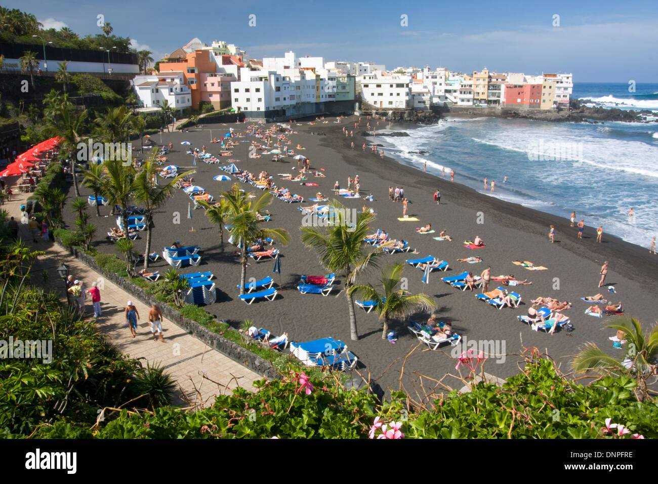 Playa del jardin puerto de la cruz northern tenerife spain stock photo royalty free image - Playa puerto de la cruz tenerife ...