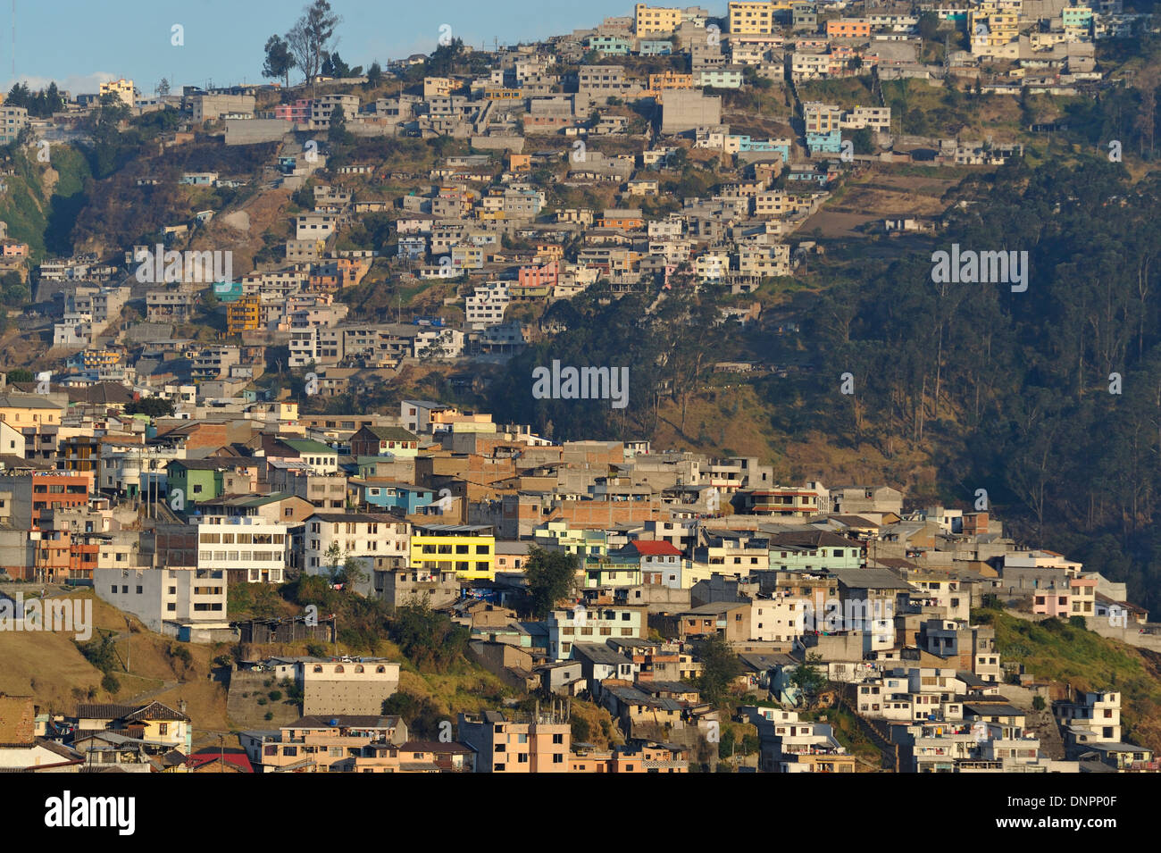 Houses Built On The Slopes Of A Hill Of Quito City Capital Of - Capital of ecuador