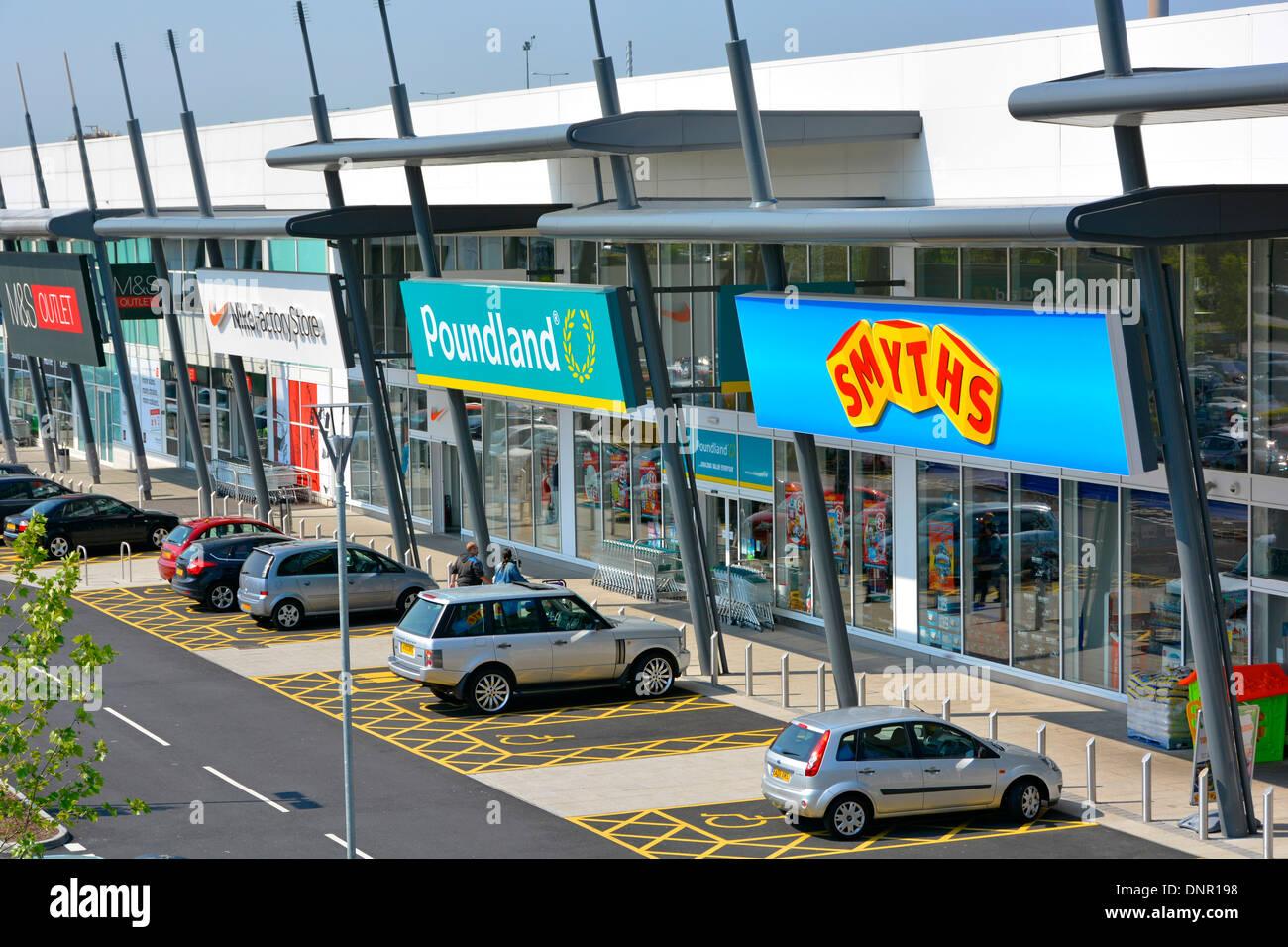 White apron poundland - Free Disabled Parking Bays Outside Retail Park Shopping Units Including Smyths Poundland Nike