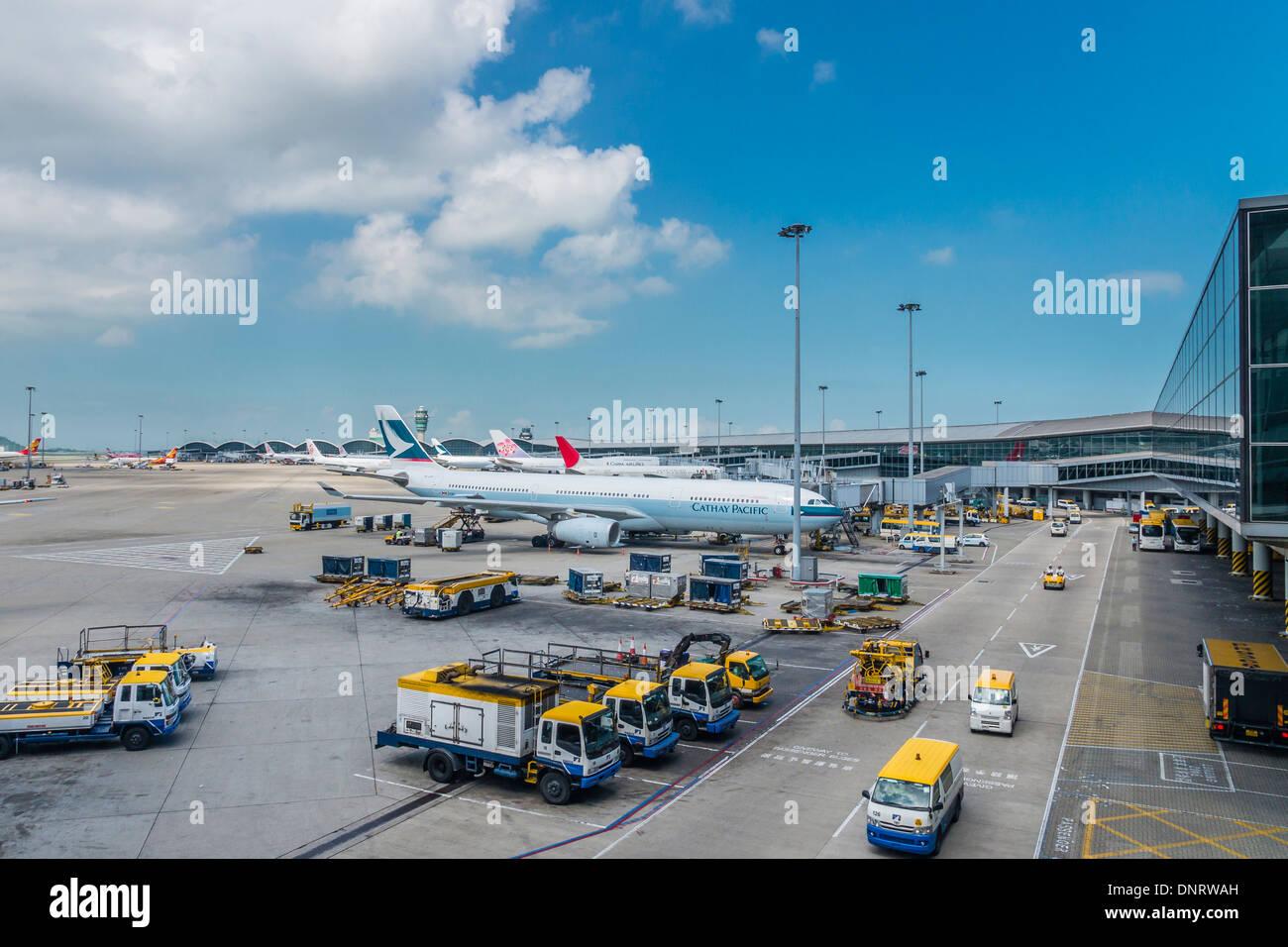 Blue apron hong kong - Stock Photo View Of Parking Apron Hong Kong International Airport Hong Kong