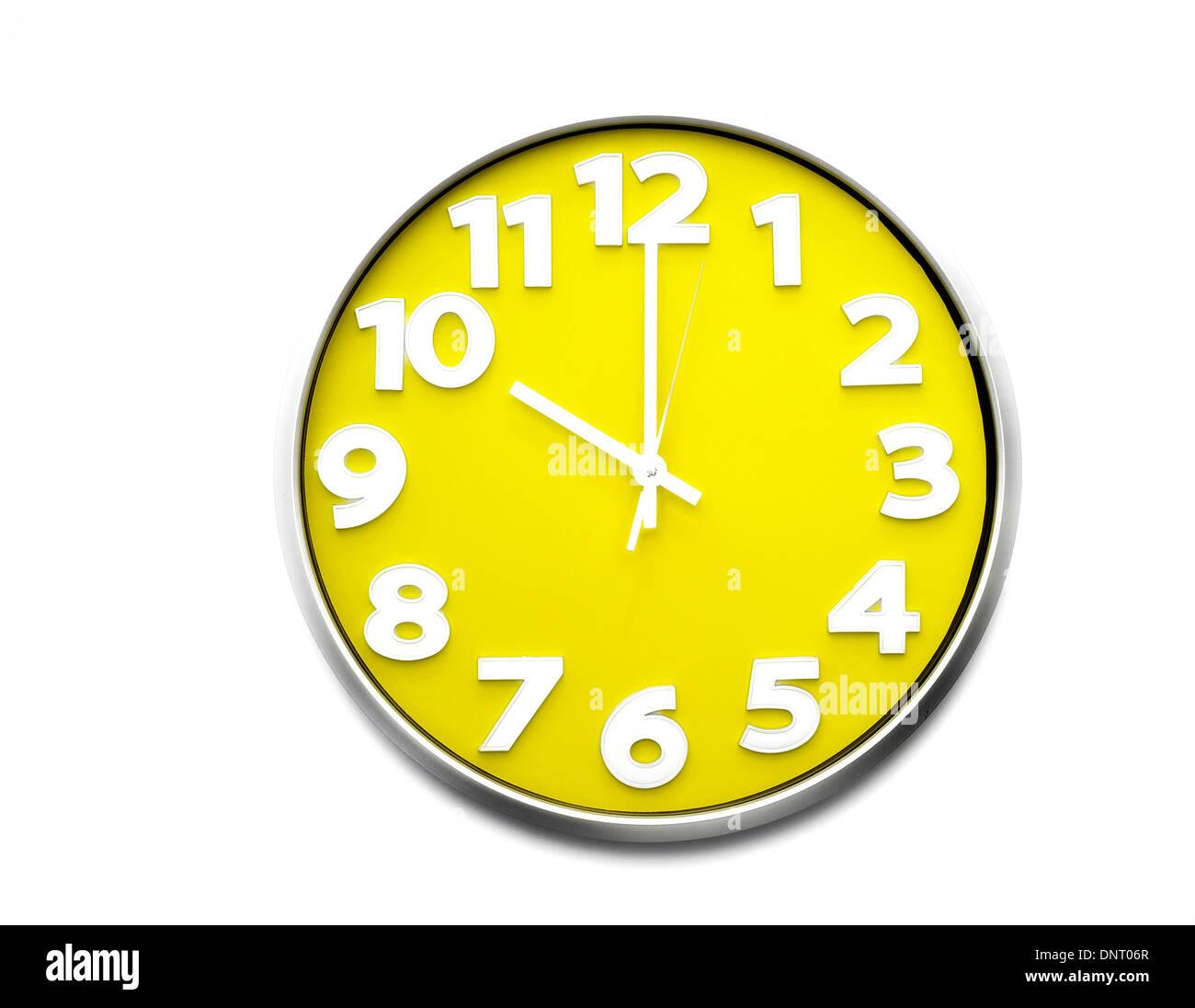 Yellow Clock Face 10 O Clock The Clock Strikes Ten 22 00
