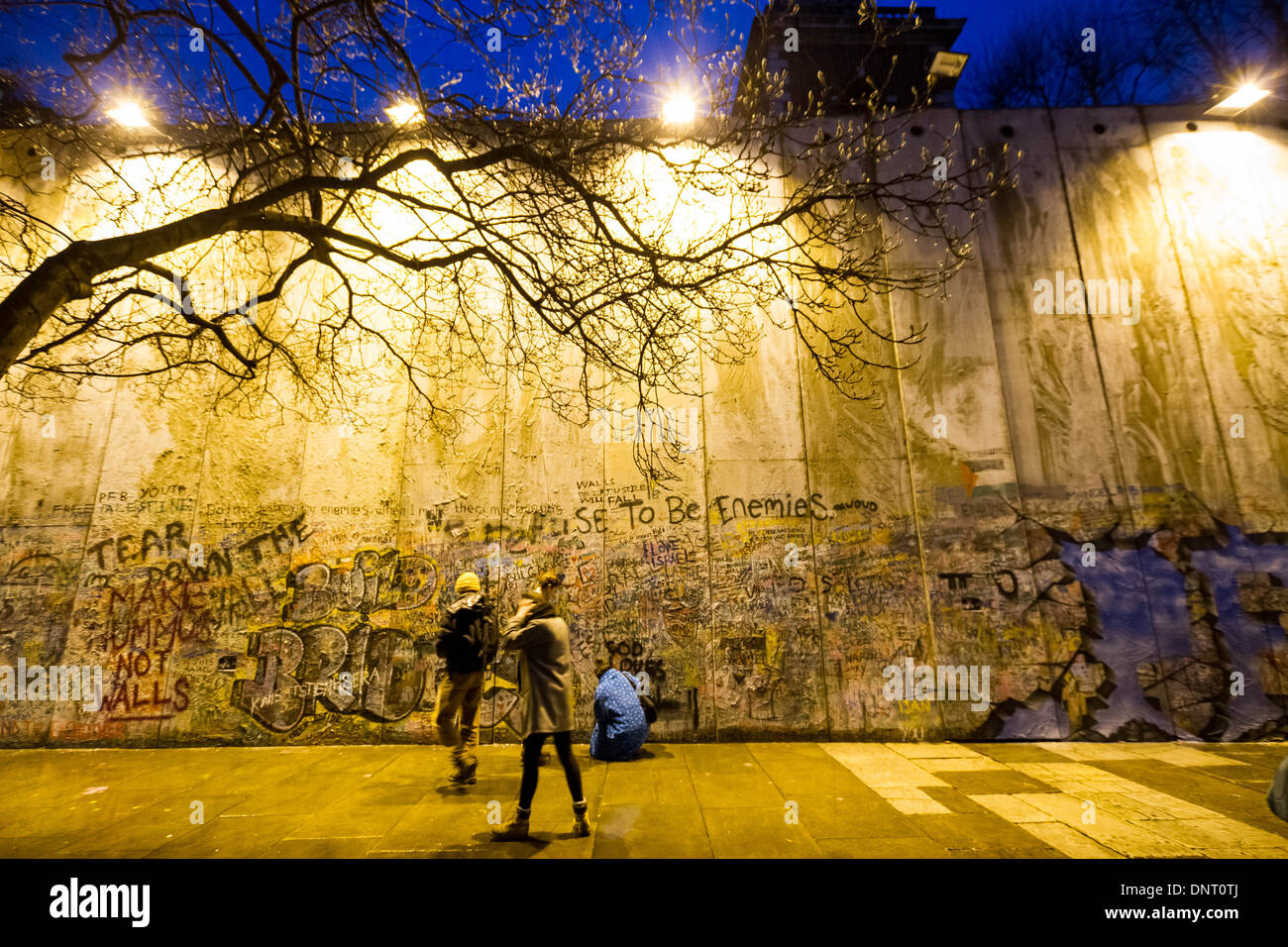 Bethlehem Wall art installation by Justin Butcher in London Stock ...