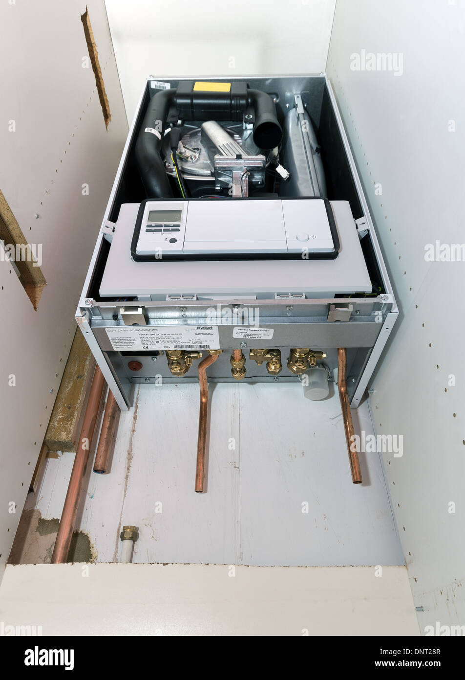 The installation of a vaillant ecotec pro combination