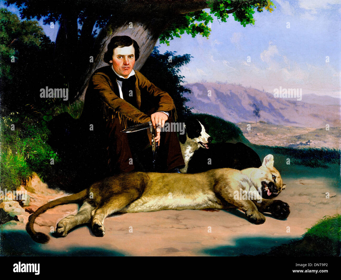 Charles Christian Nahl Peter Quivey And The Mountain Lion - Christian museums in the usa