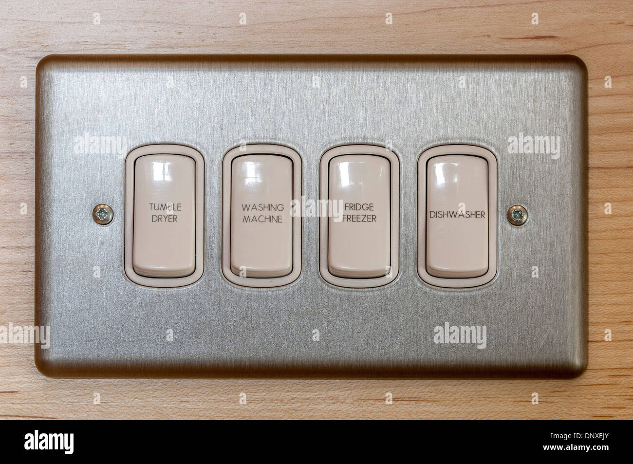 Multiple Switches For Domestic Appliances On A Single