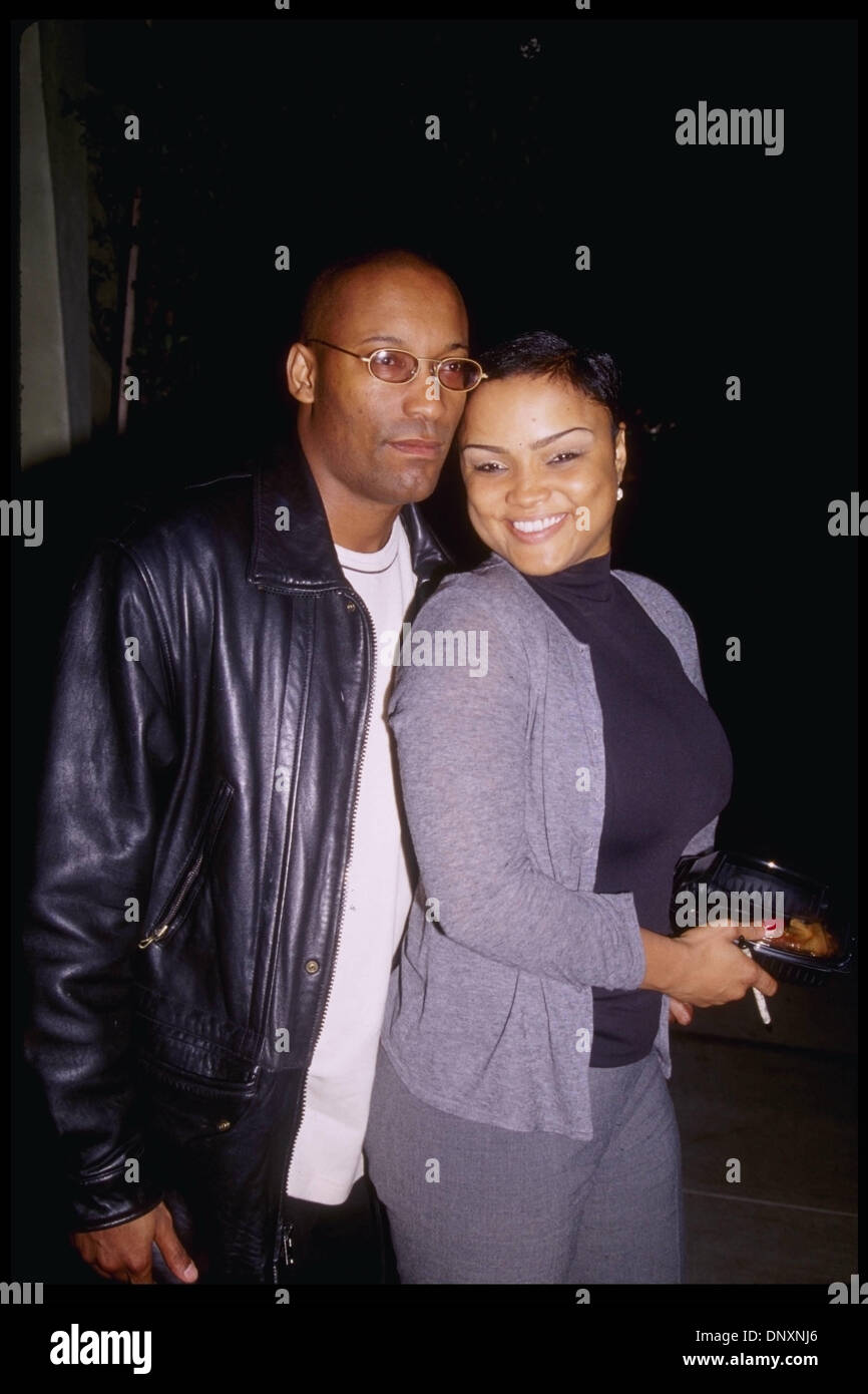 1999 hollywood ca usa director john singleton and wife