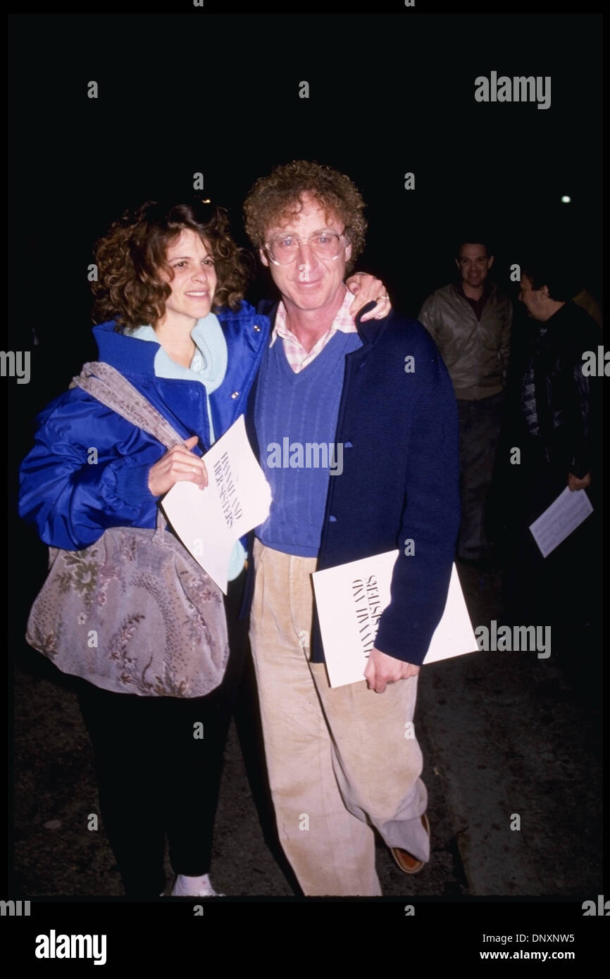 Hollywood ca usa actor gene wilder and wife gilda radner are shown in