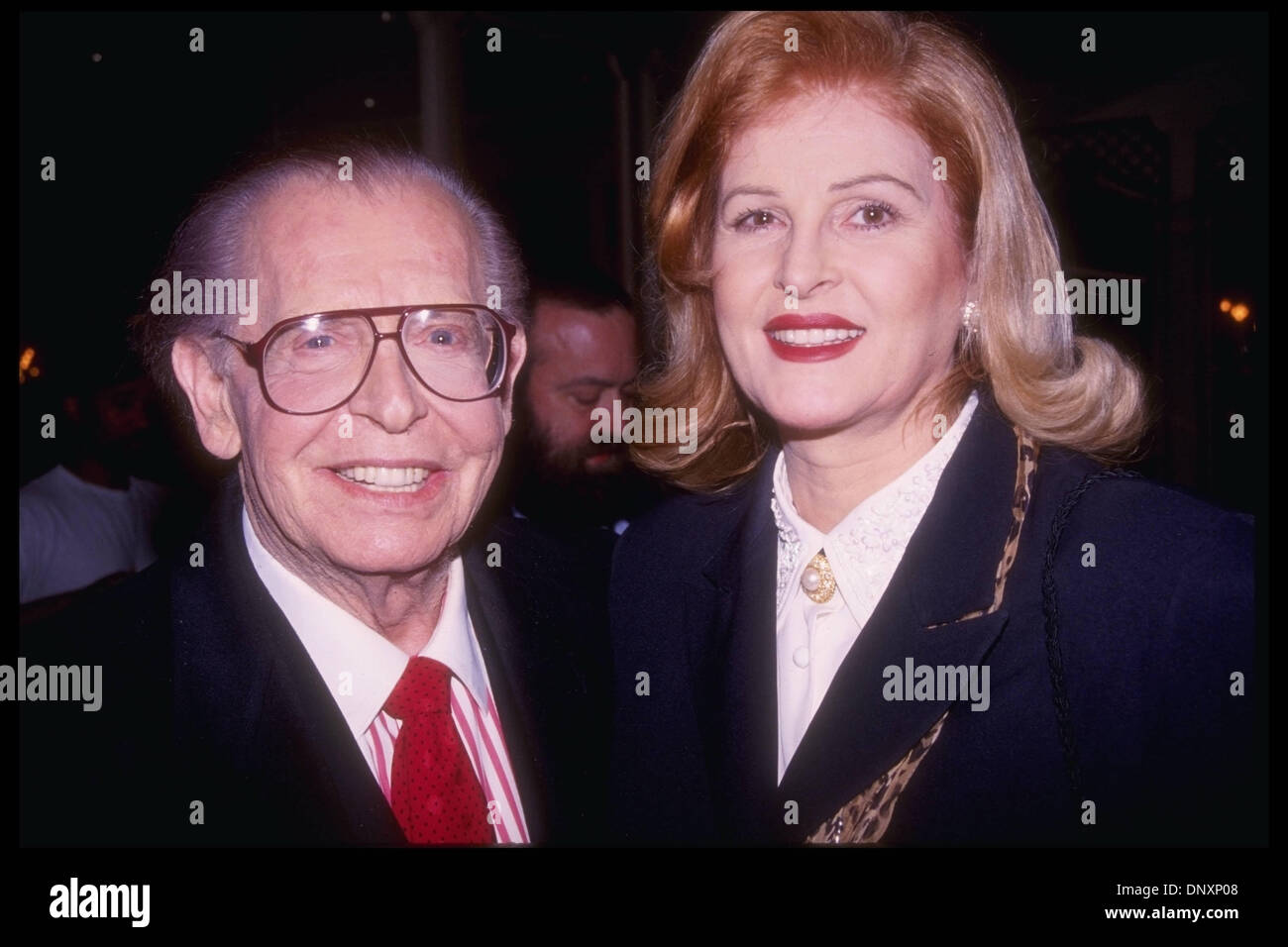 Hollywood CA USA MILTON BERLE and wife LORNA BERLE attend the