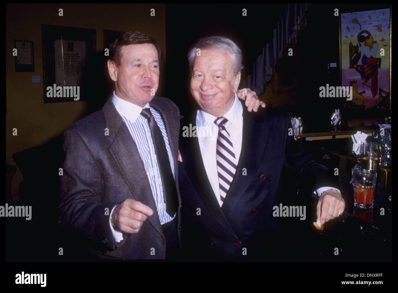 Hollywood CA USA MEL TORME and RAY ANTHONY attend the Norby