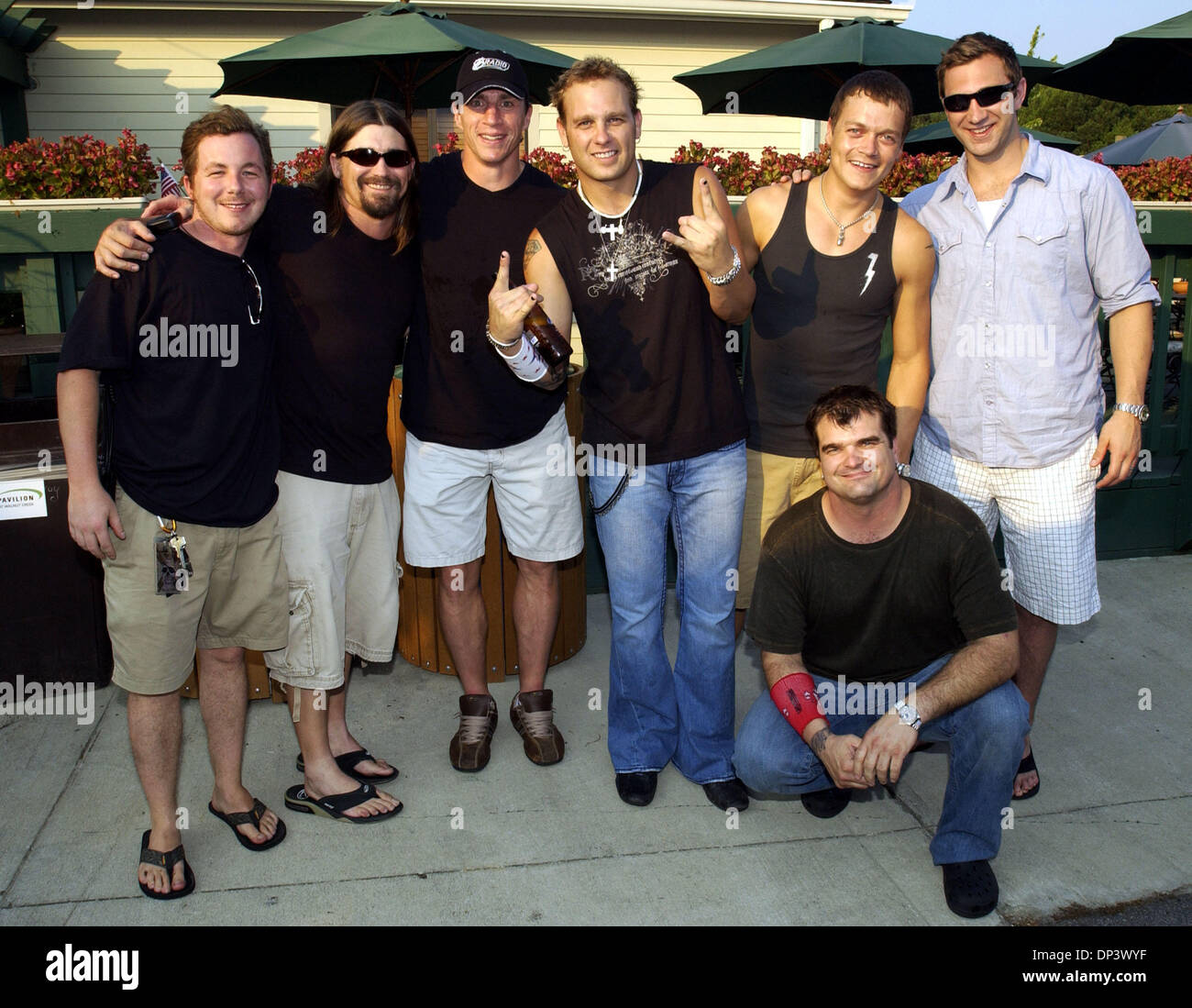 Jul 18 2006; Raleigh NC USA; Musicians 3 Doors Down take time to meet with fans before taking the stage at the Alltel Pavilion located in Raleigh.