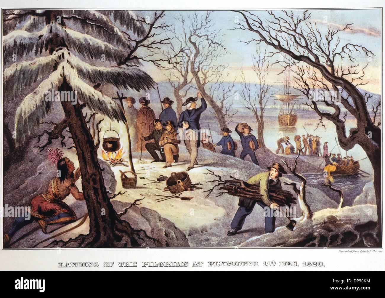 Landing Of The Pilgrims At Plymouth Rock 11th December