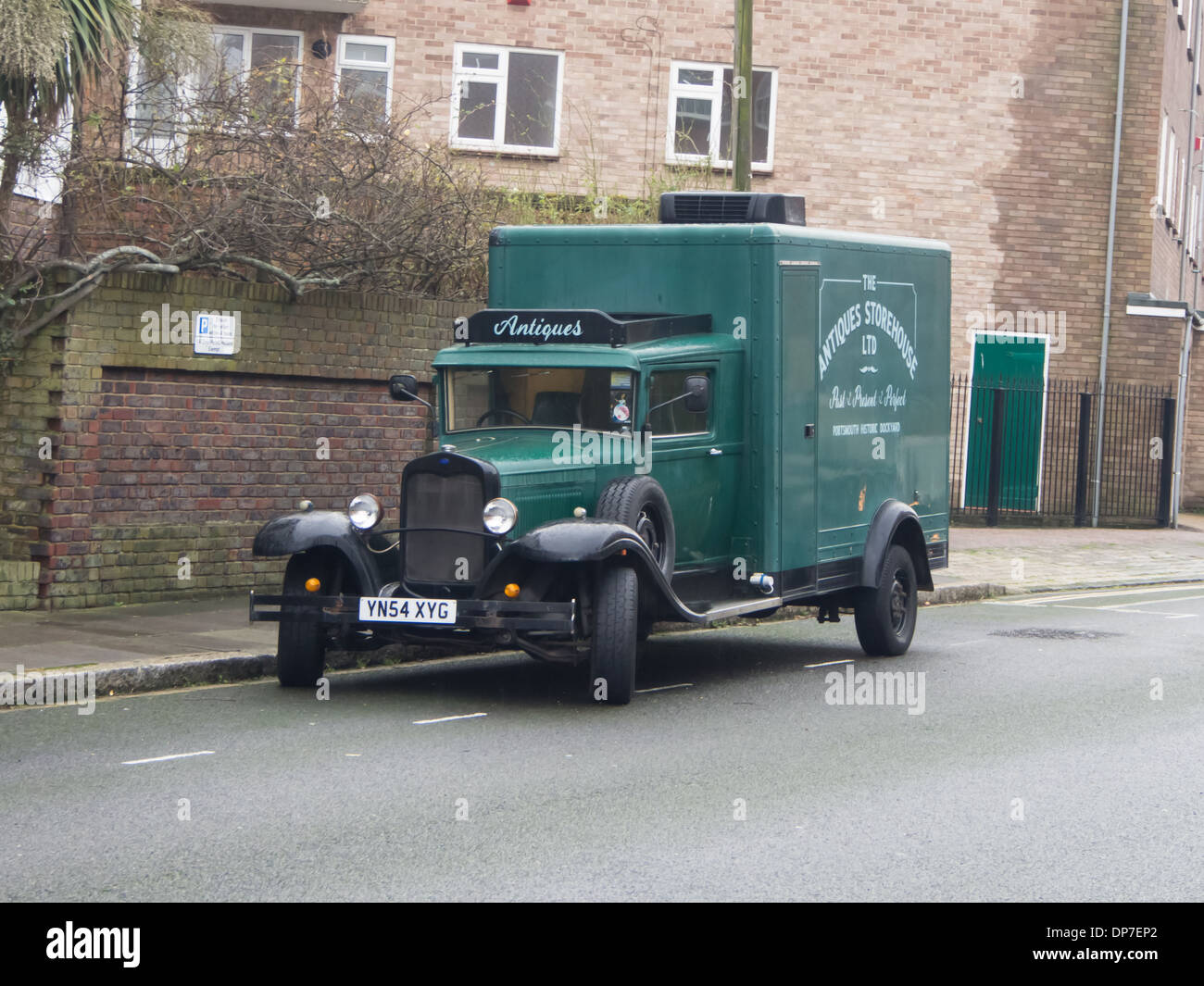 A classic delivery truck owned by an antique trader Stock Photo ...