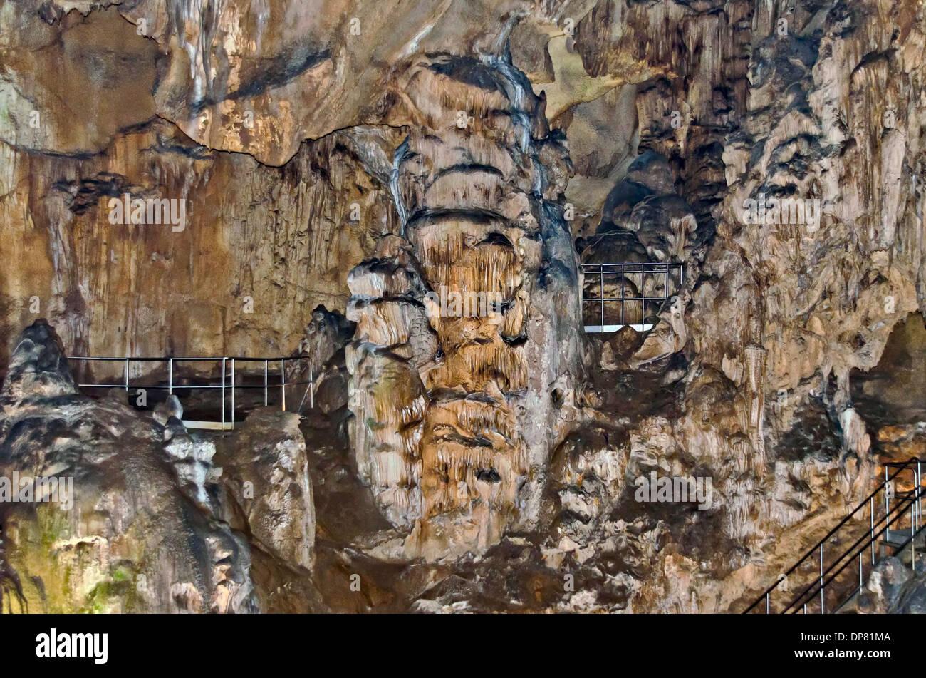 Beautiful view in Ledenika cave, near to Vratza town, Bulgaria ...