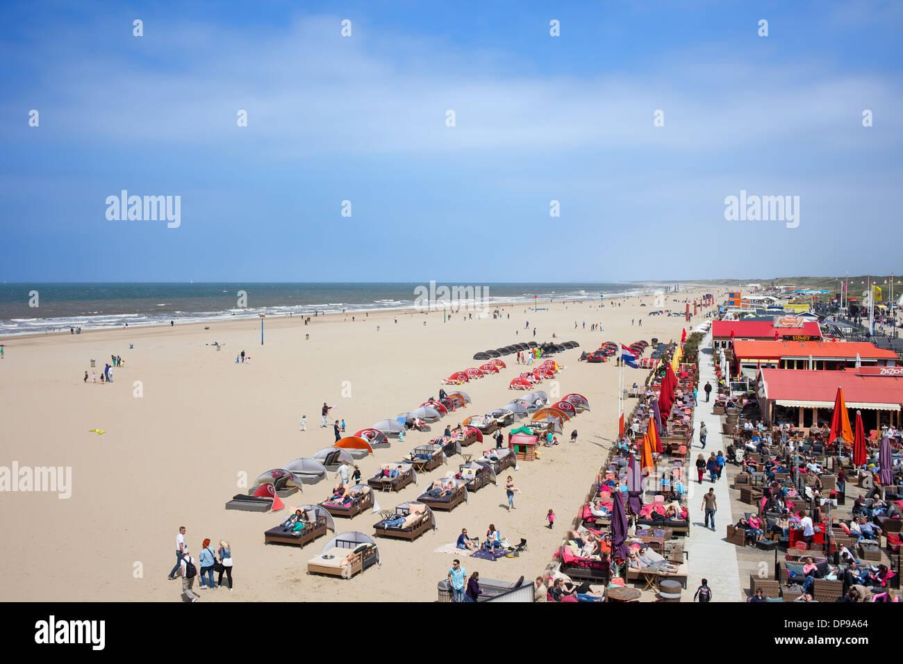 Cafes Restaurants Clubs Along The Scheveningen Beach By